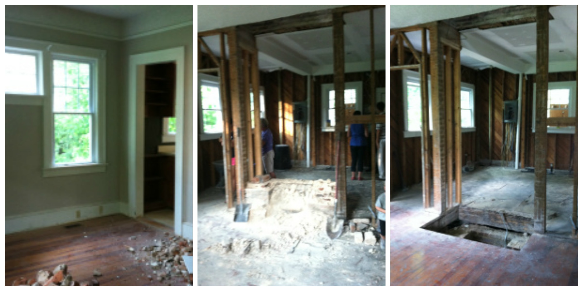 Dining Room and Kitchen Before