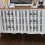 Craigslist Ombre and Striped Dresser