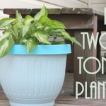 DIY Two-Toned Planter