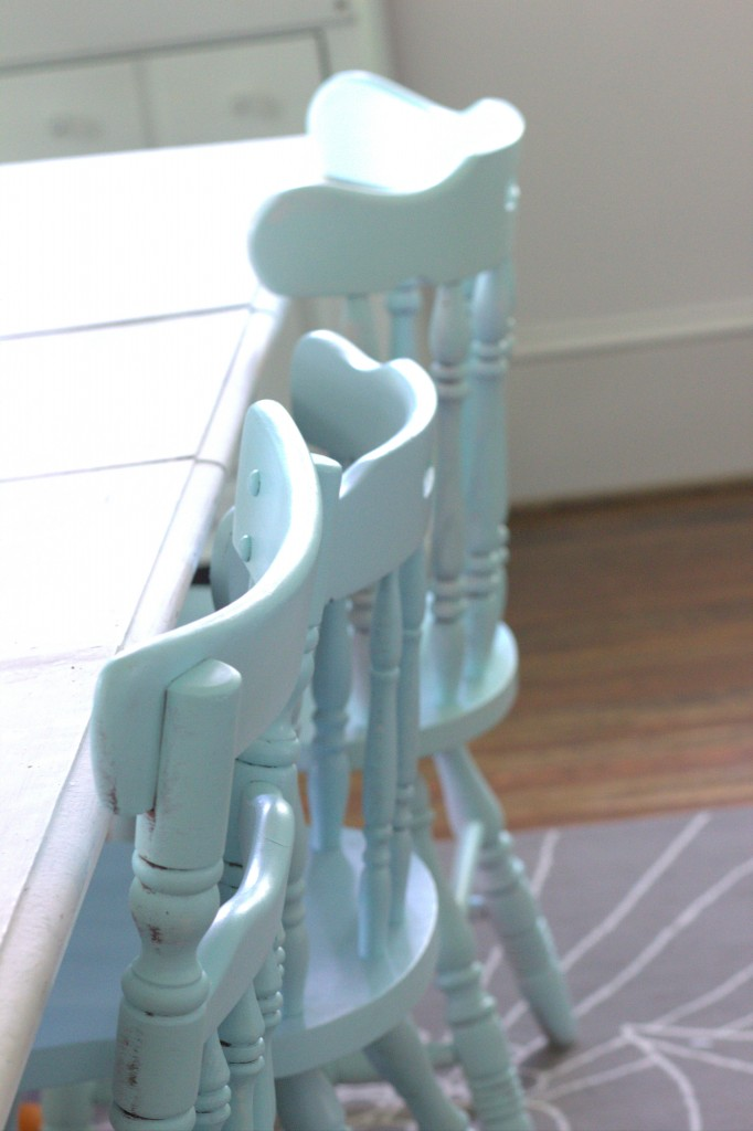 Thrift Store Chairs Painted in My Favorite Hues