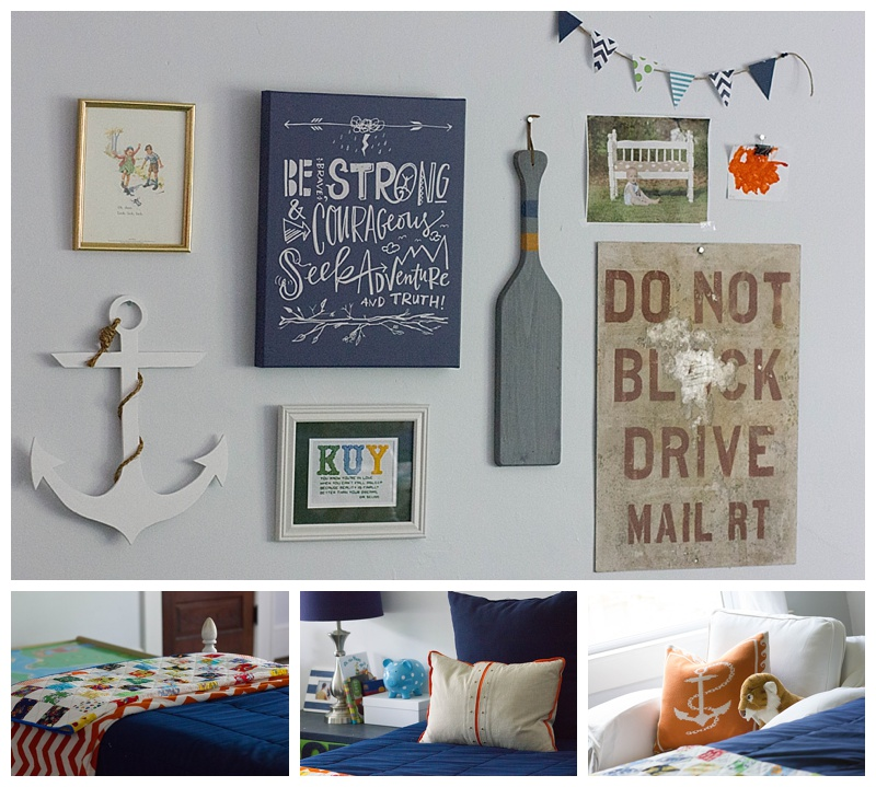 Eclectic Boys' Gallery Wall