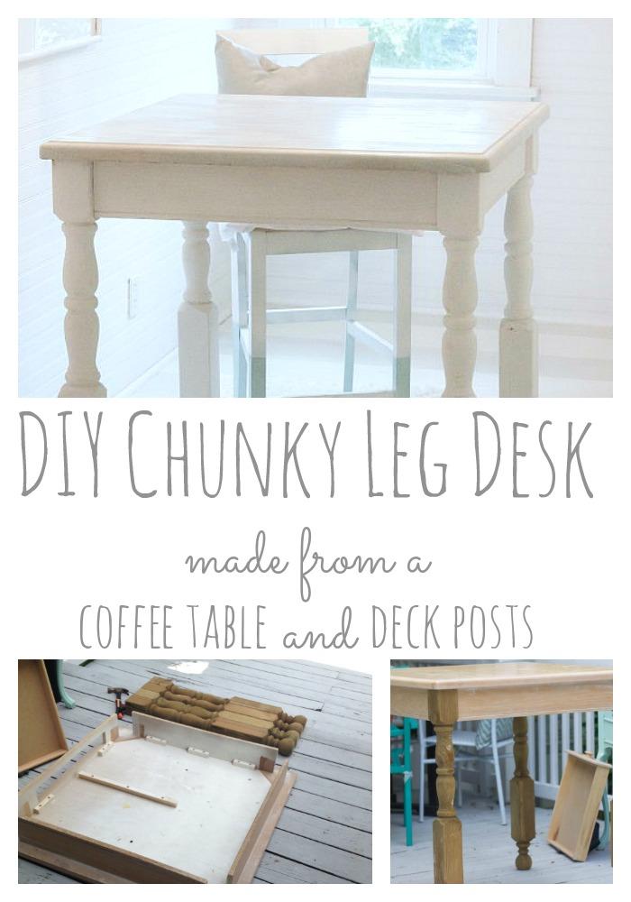 DIY Chunky Leg Desk