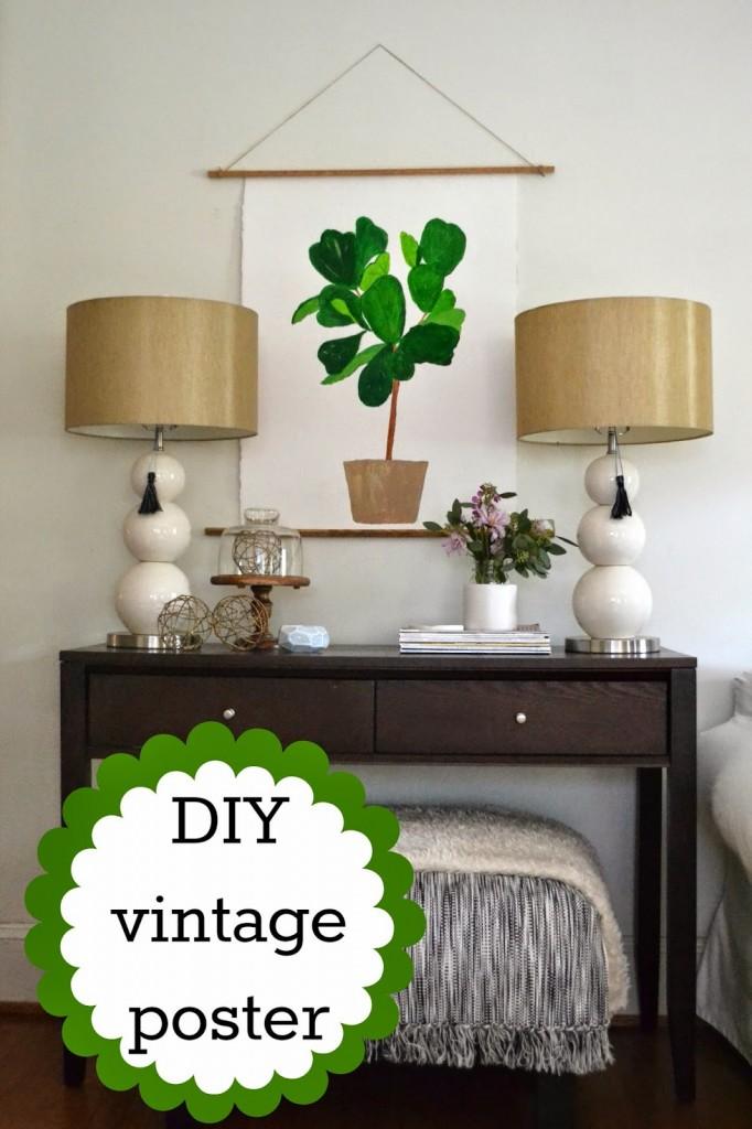 DIY vintage poster