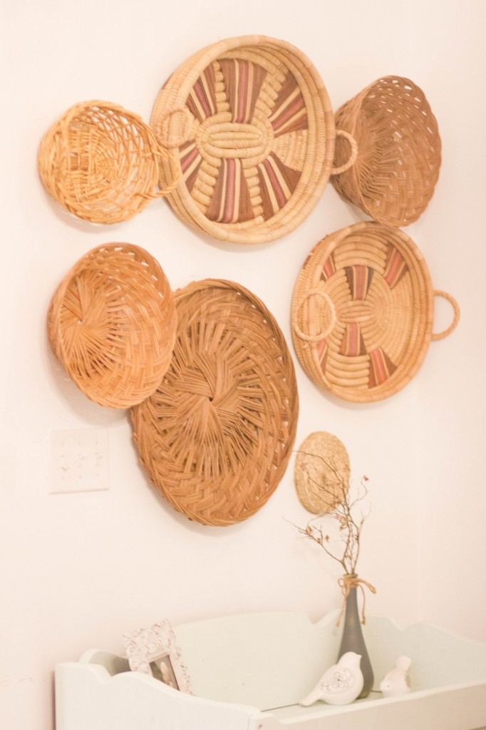 Thrifted Basket Wall