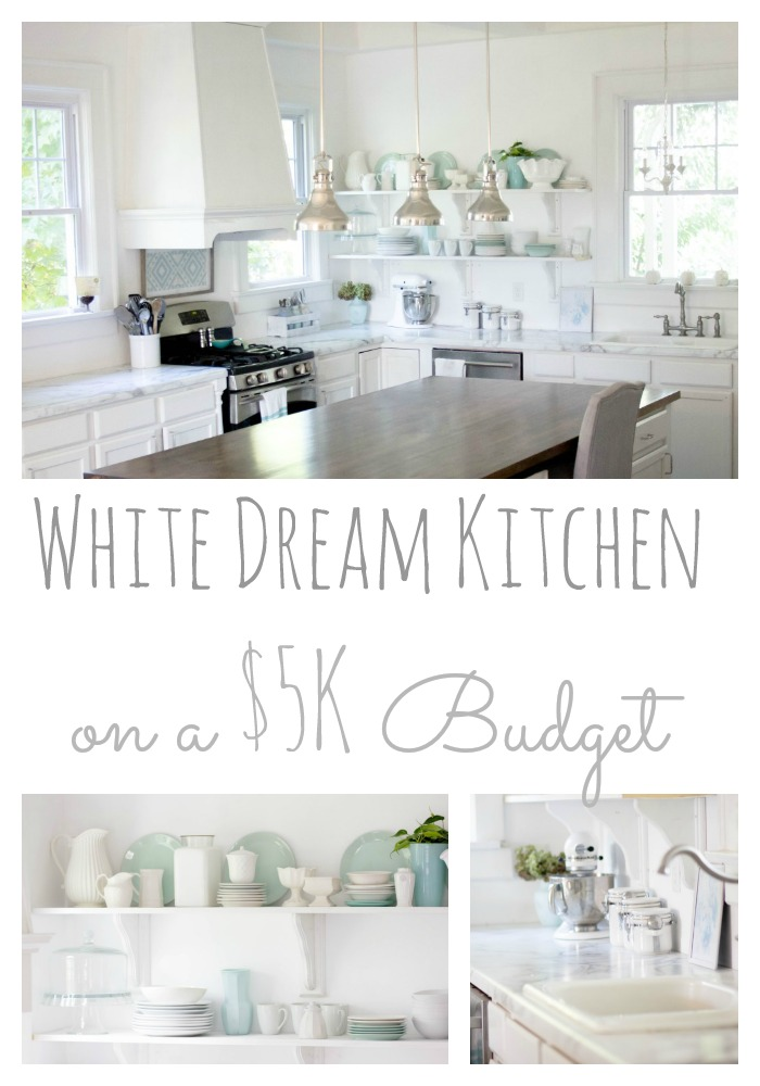 White Dream Kitchen on a Budget