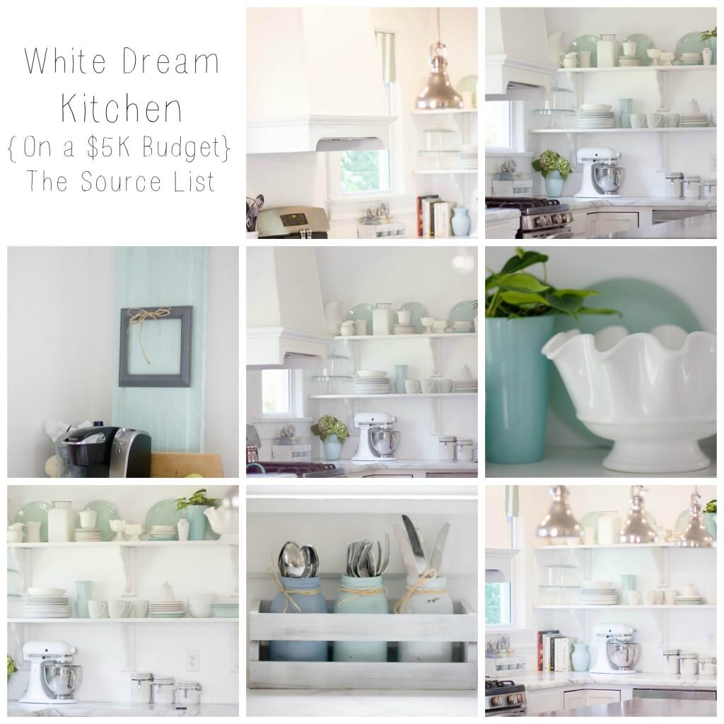 White Dream Kitchen Source List