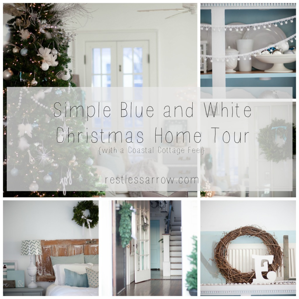 Simple Blue and White Home Tour