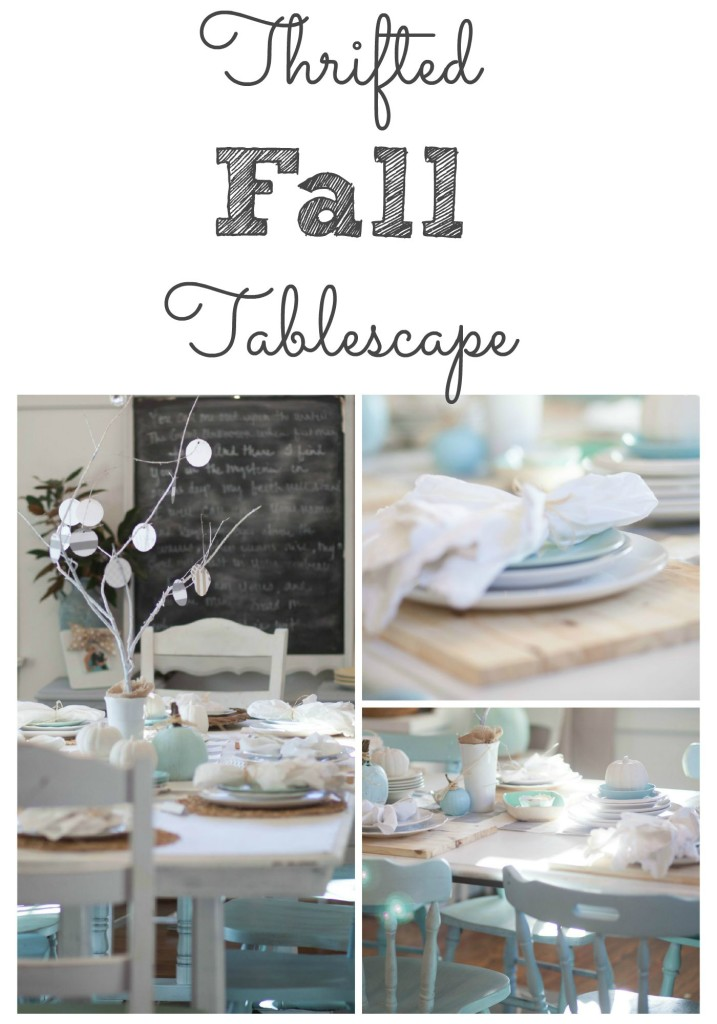 Thrifted Fall Tablescape