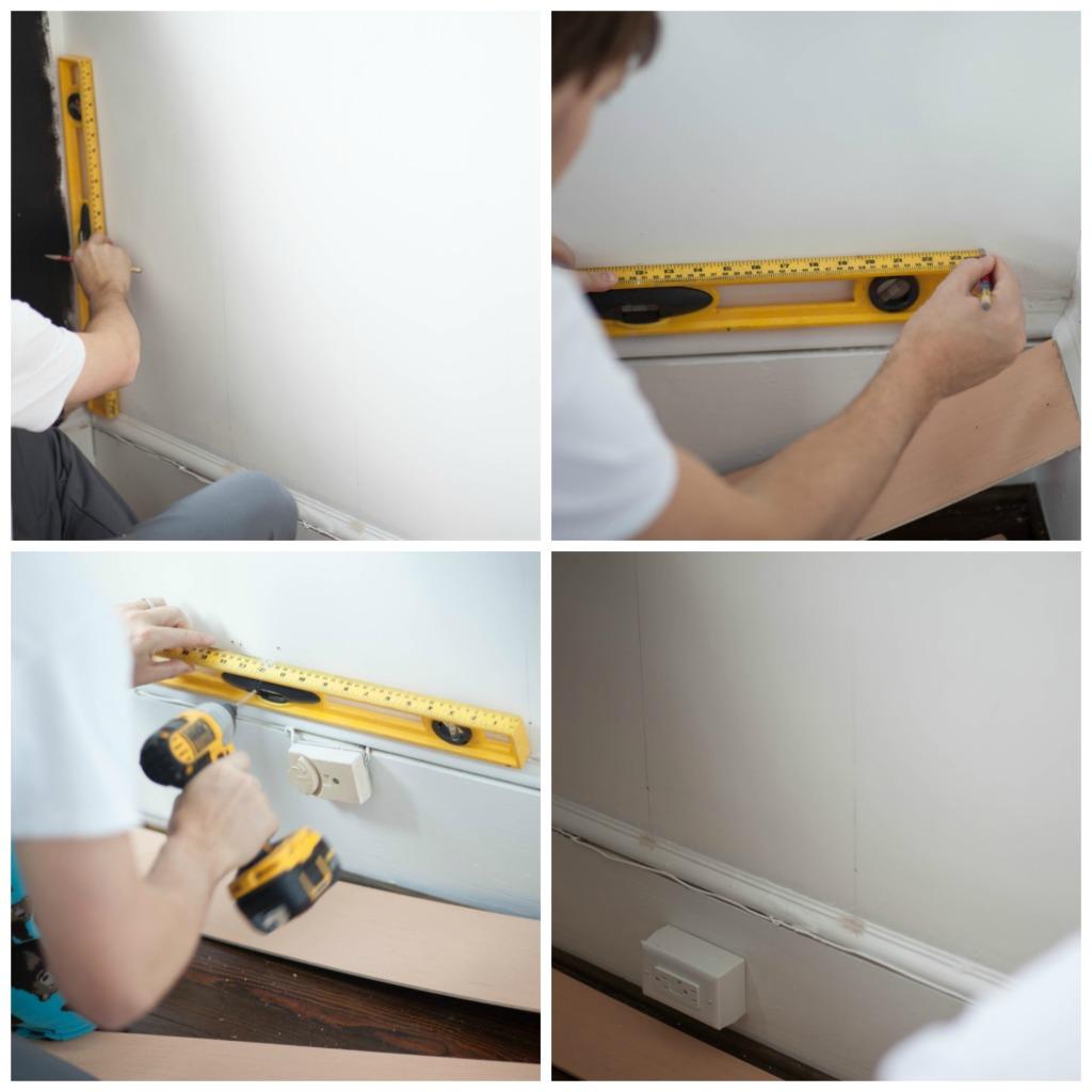 DIY Plank Wall Steps