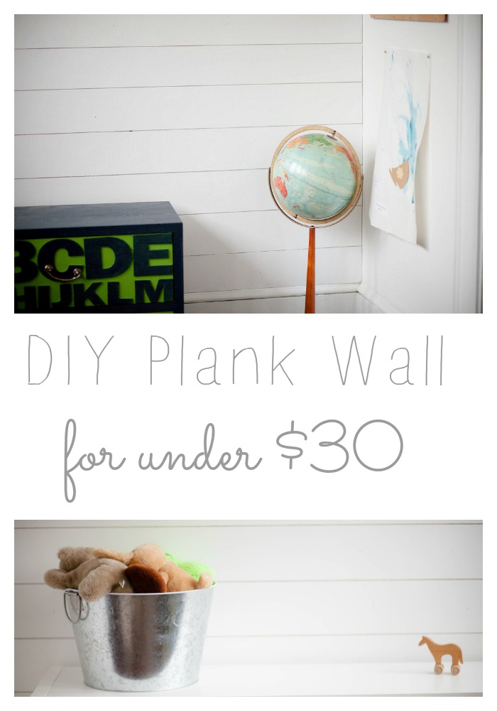 DIY Plank Wall for Under $30