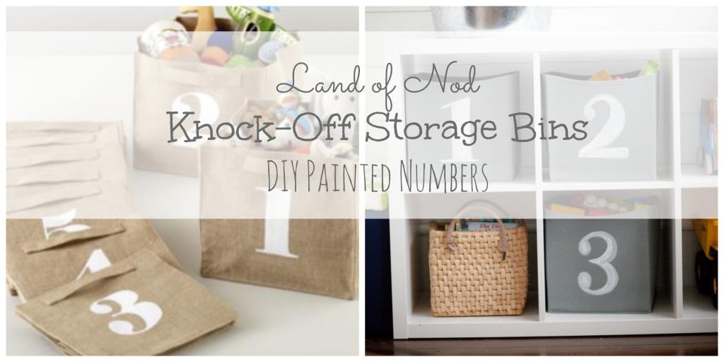 Knock Off Storage Bins