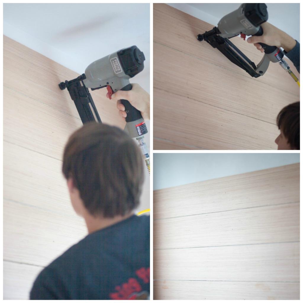 Plank Wall Steps