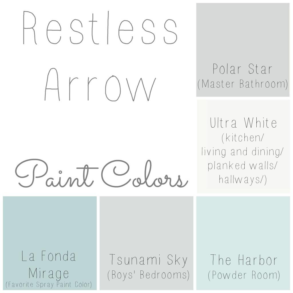 Restless Arrow House Paint Colors