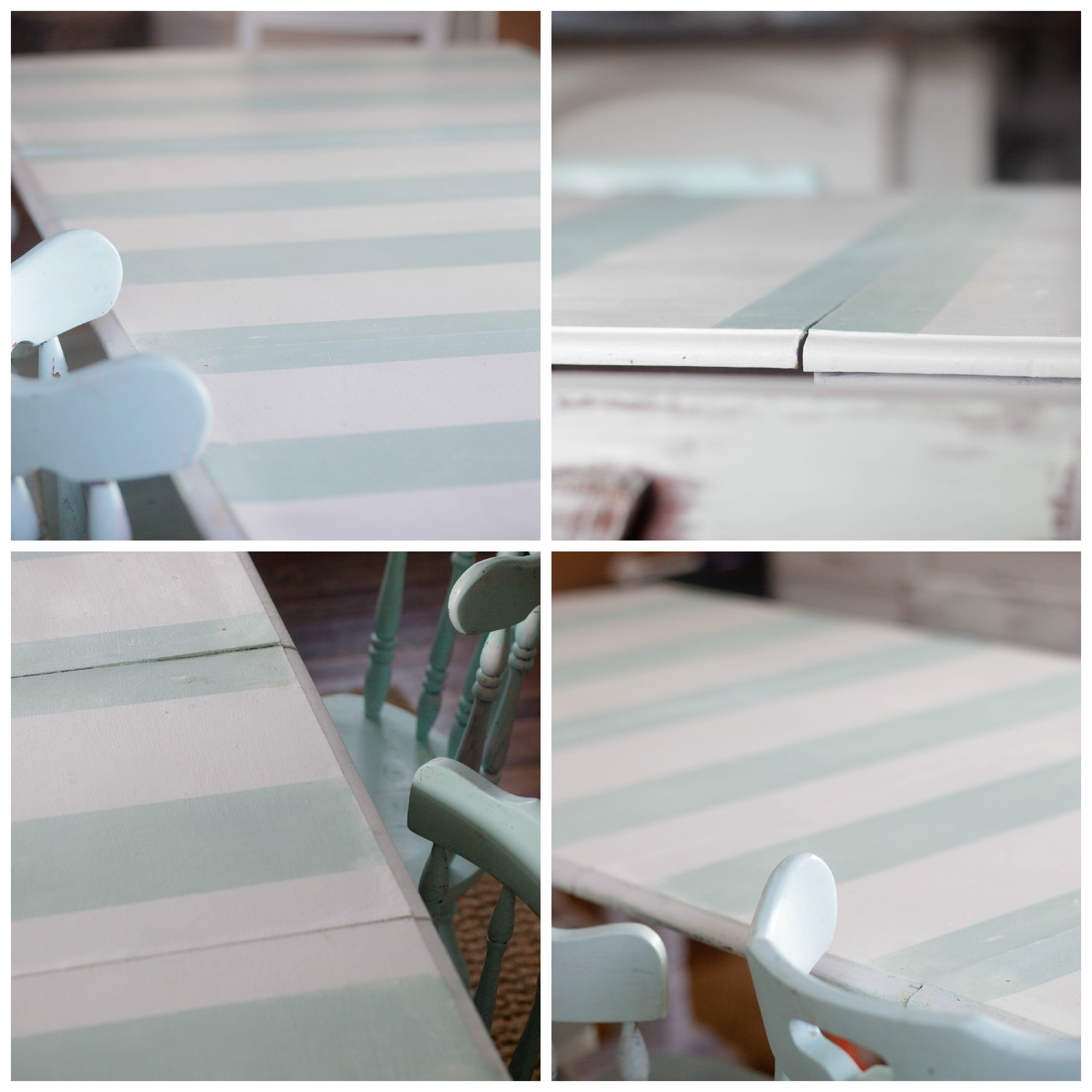Striped Dining Room Table