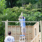 Constructing the Treehouse {The Roof}