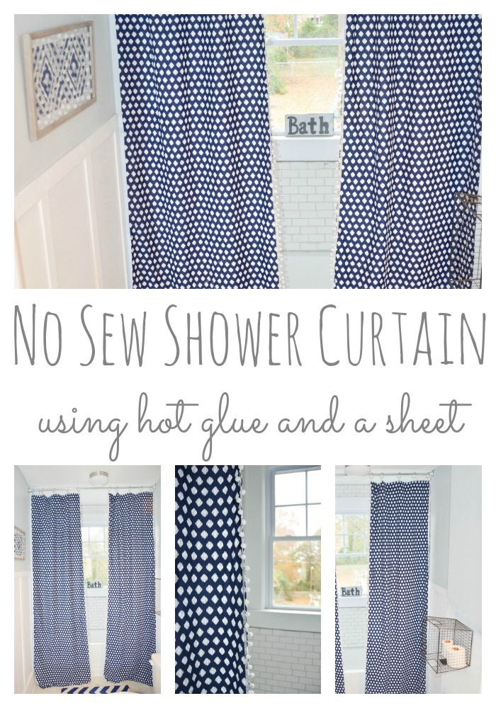 No Sew Shower Curtain
