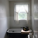 DIY Shower Curtain (from a Twin Sheet)