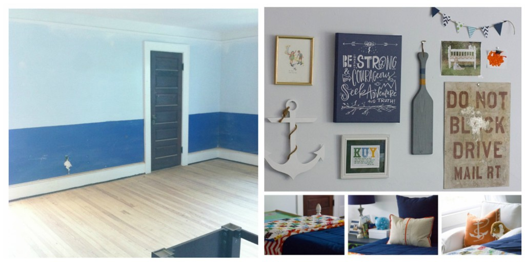 boys room before and after