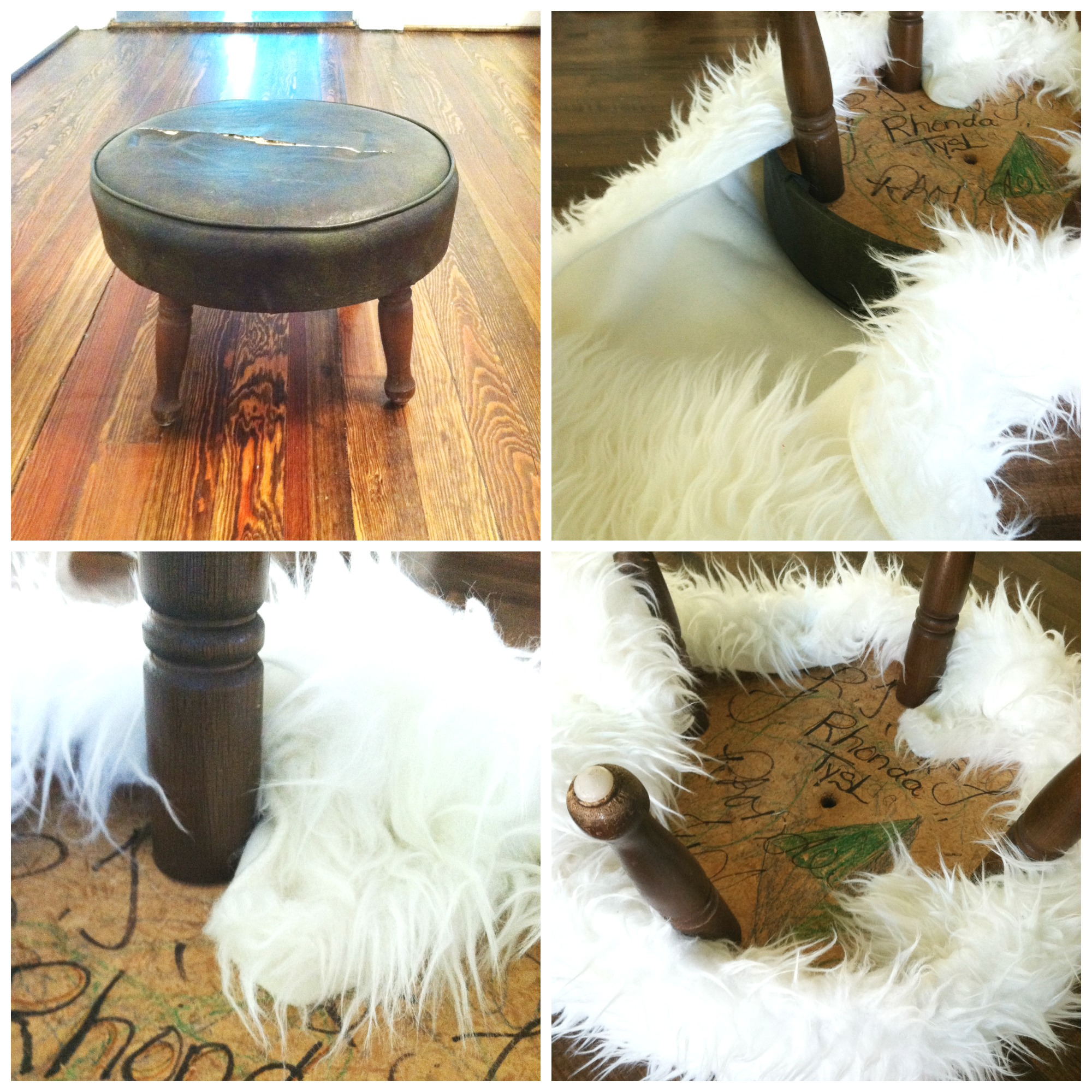 Diy Fur Stool Nursery Progress Amber Tysl