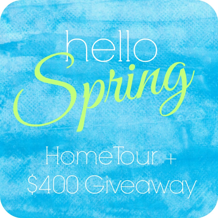 hello spring home tour and giveaway