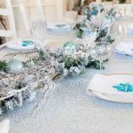 A Holiday Get-Together Tablescape with a Touch of Blue and White